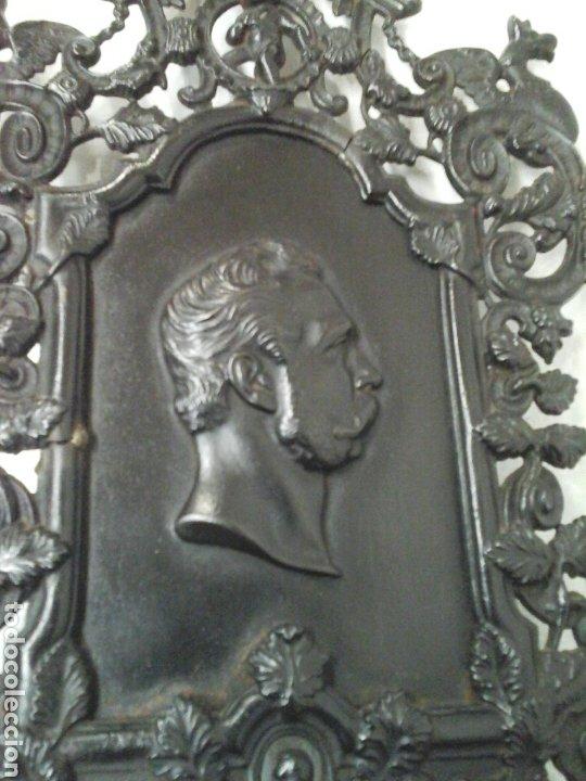 HOMENAJE RECUERDO A ALFONSO XII (Arte - Escultura - Hierro)