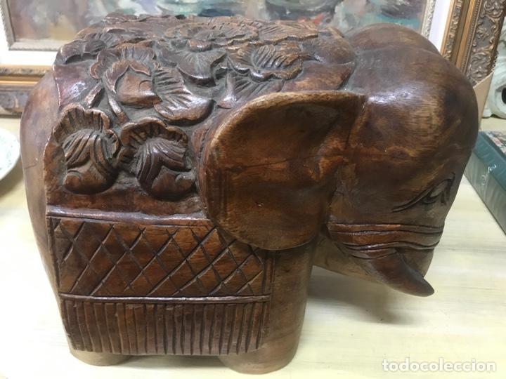 Arte: Gran Elefante tallado en madera - Foto 5 - 161355446