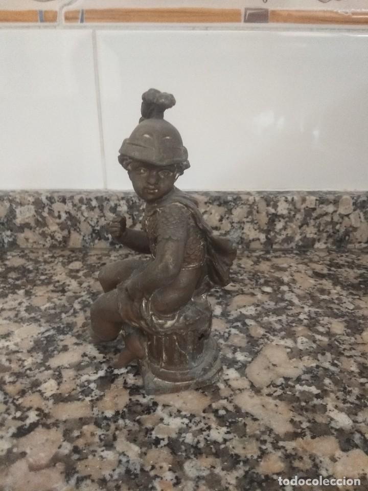 ESCULTURA DE CALAMINA DE IMPERIO FRANCÉS (Arte - Escultura - Hierro)
