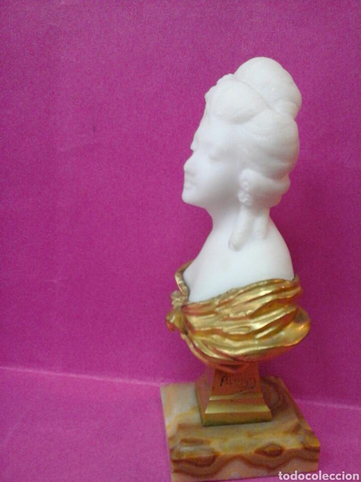 Arte: Busto en marmol y bronce al oro de el autor Frances Dominique Alonzo - Foto 4 - 26516443