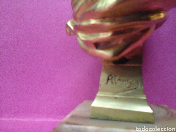 Arte: Busto en marmol y bronce al oro de el autor Frances Dominique Alonzo - Foto 5 - 26516443