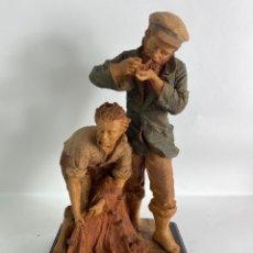 Arte: FIGURA EN PASTA PESCADORES. FIRADA JOSEP BOFILL. S.XX.. Lote 207846111