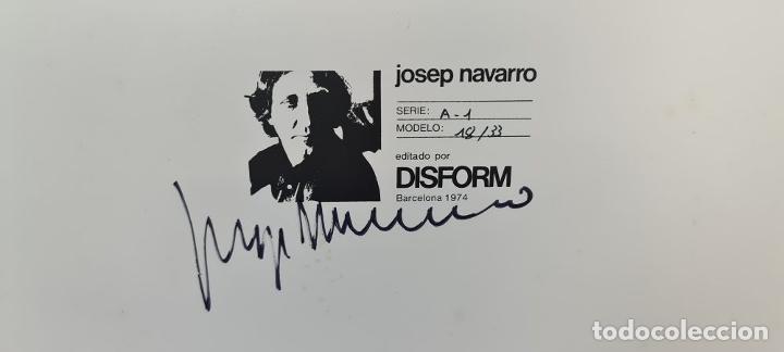 Arte: SUPERPOSICIÓN CIRCULAR EN BLANCO. RESINA Y METAL. JOSEP NAVARRO. 1974. - Foto 5 - 207949978