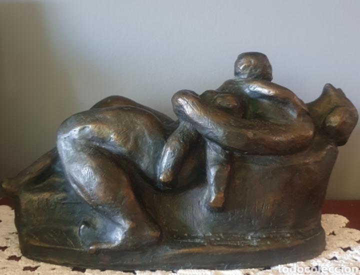 GLÒRIA MORERA FONT (TARRASA,BARCELONA, 1935) - MADRE E HIJO.BRONCE.FIRMADA.1/2.GRAN FORMATO. (Arte - Escultura - Bronce)