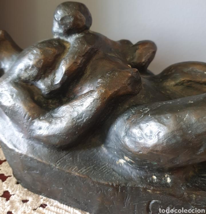 Arte: Glòria Morera Font (Tarrasa,Barcelona, 1935) - Madre e Hijo.Bronce.Firmada.1/2.Gran formato. - Foto 8 - 207128042