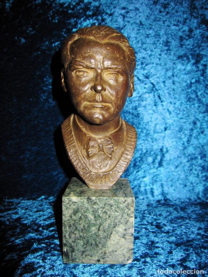 BUSTO BRONCE FEDERICO GARCÍA LORCA. MIGUEL MORENO. CERTIFICADA Y NUMERADA (Arte - Escultura - Bronce)