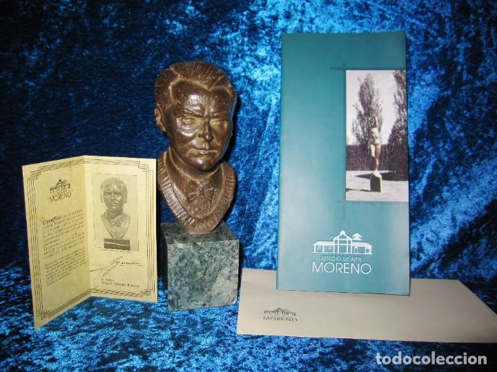 Arte: Busto bronce Federico García Lorca. Miguel Moreno. Certificada y numerada - Foto 3 - 219203811