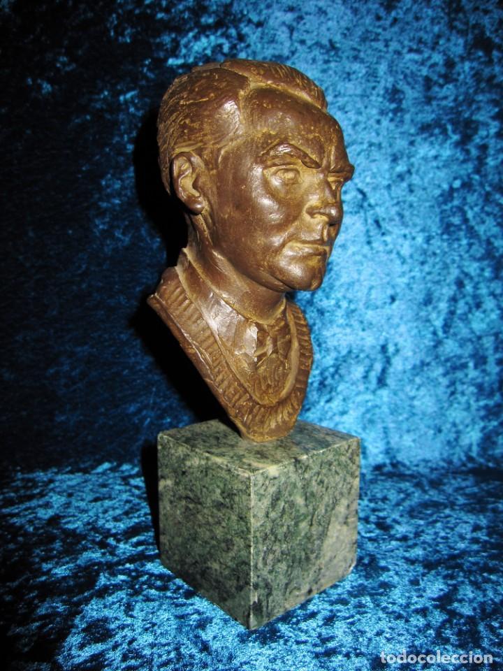 Arte: Busto bronce Federico García Lorca. Miguel Moreno. Certificada y numerada - Foto 4 - 219203811