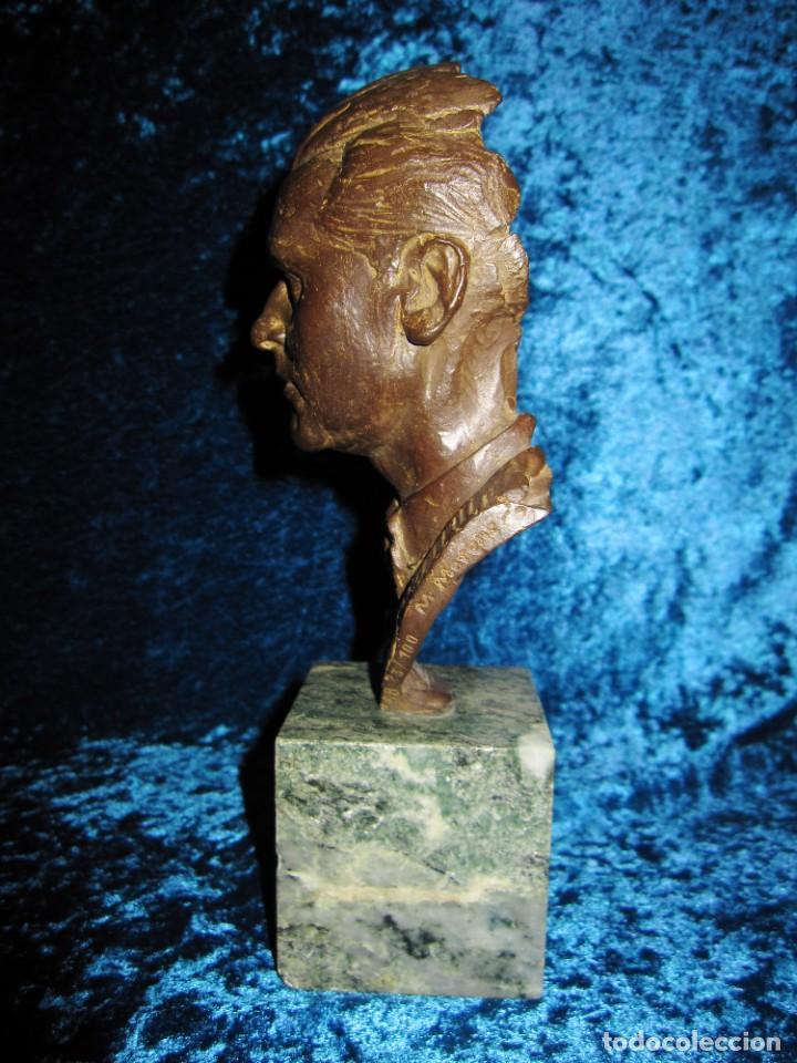 Arte: Busto bronce Federico García Lorca. Miguel Moreno. Certificada y numerada - Foto 9 - 219203811