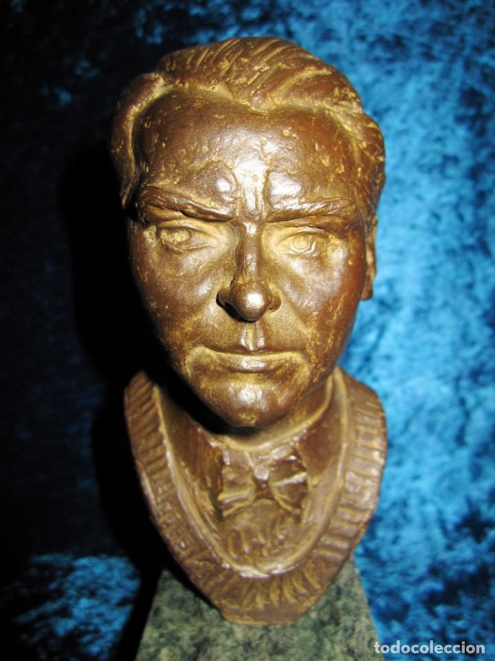 Arte: Busto bronce Federico García Lorca. Miguel Moreno. Certificada y numerada - Foto 13 - 219203811
