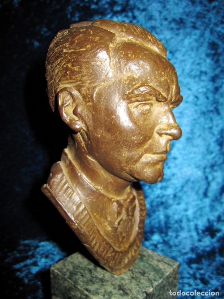 Arte: Busto bronce Federico García Lorca. Miguel Moreno. Certificada y numerada - Foto 14 - 219203811