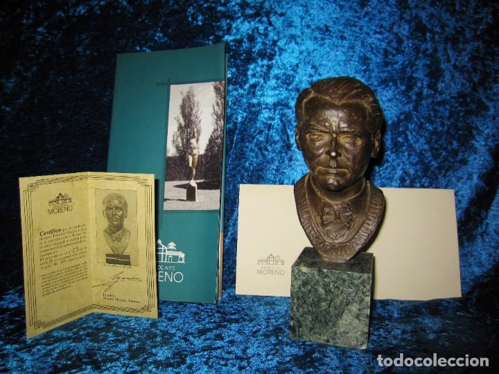 Arte: Busto bronce Federico García Lorca. Miguel Moreno. Certificada y numerada - Foto 17 - 219203811