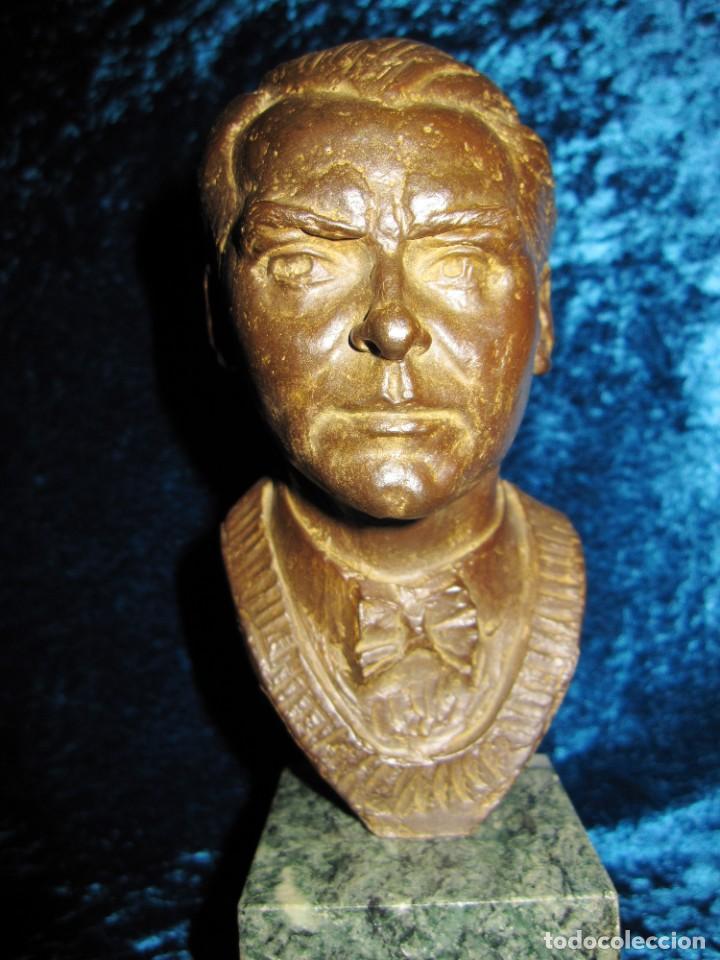 Arte: Busto bronce Federico García Lorca. Miguel Moreno. Certificada y numerada - Foto 19 - 219203811