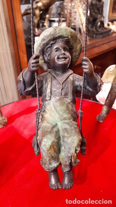 BRONCE PAVONADO.S.XX.EL COLUMPIO. (Arte - Escultura - Bronce)
