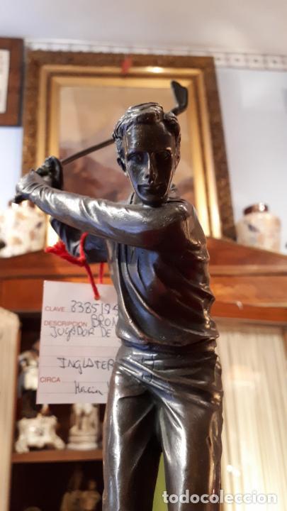 JUGANDO AL GOLF. BRONCE. (Arte - Escultura - Bronce)