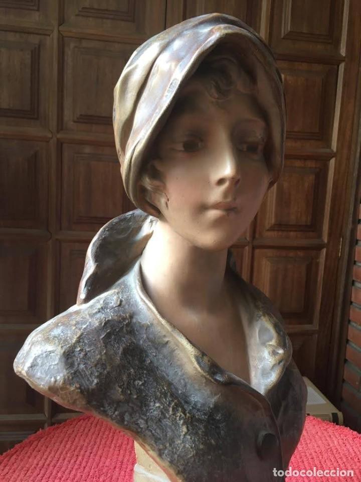 Arte: Busto modernista de mujer joven - Foto 2 - 208974266