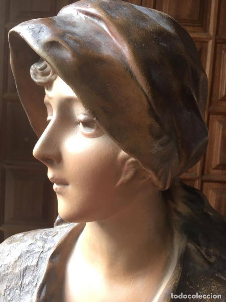 Arte: Busto modernista de mujer joven - Foto 3 - 208974266