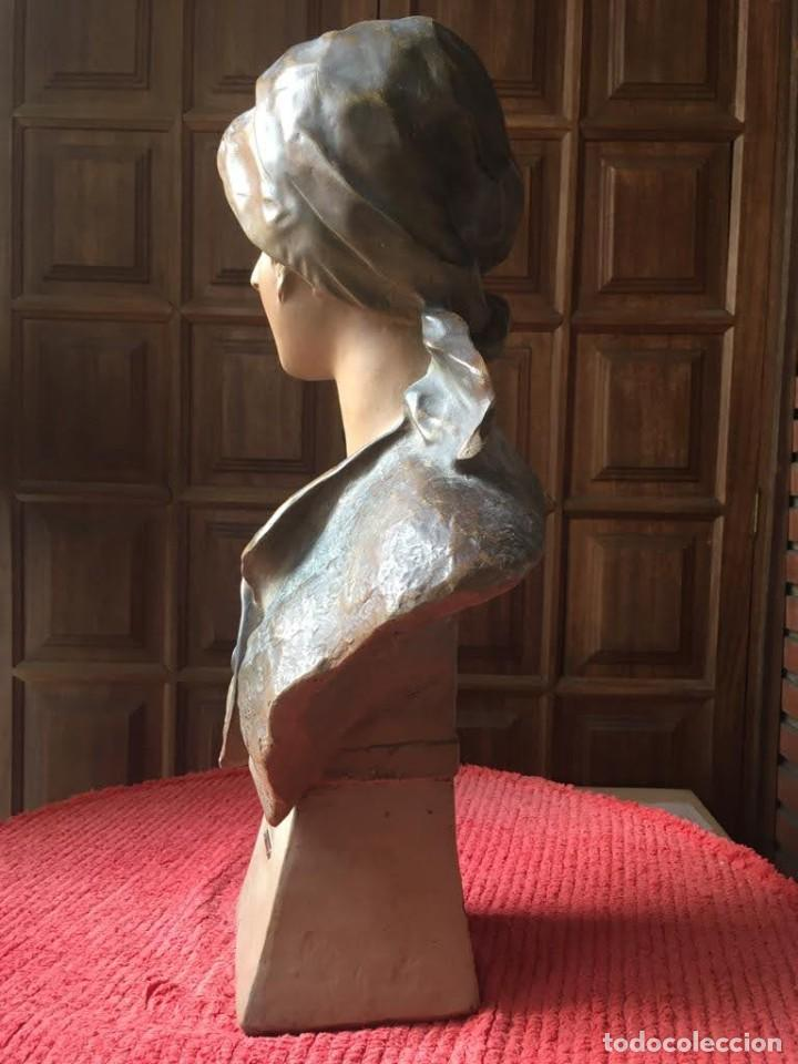 Arte: Busto modernista de mujer joven - Foto 4 - 208974266