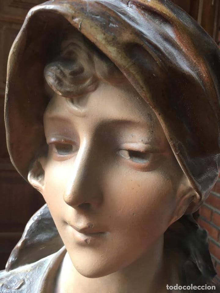 Arte: Busto modernista de mujer joven - Foto 5 - 208974266