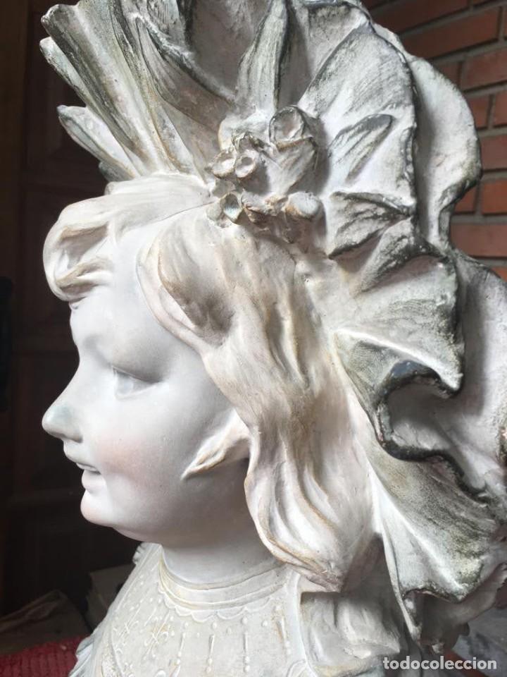 Arte: Busto modernista de niña con sombrero - Foto 6 - 208974776