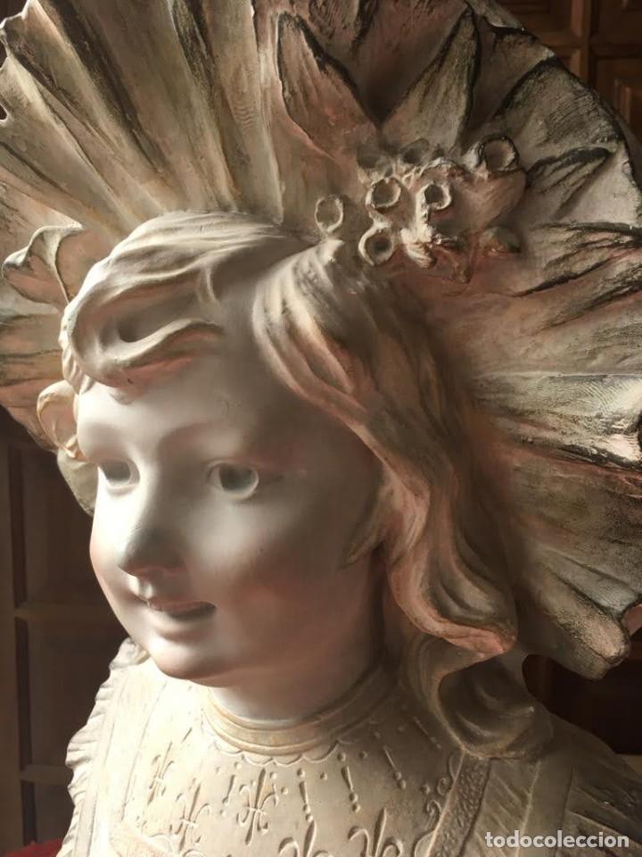 Arte: Busto modernista de niña con sombrero - Foto 3 - 208974776