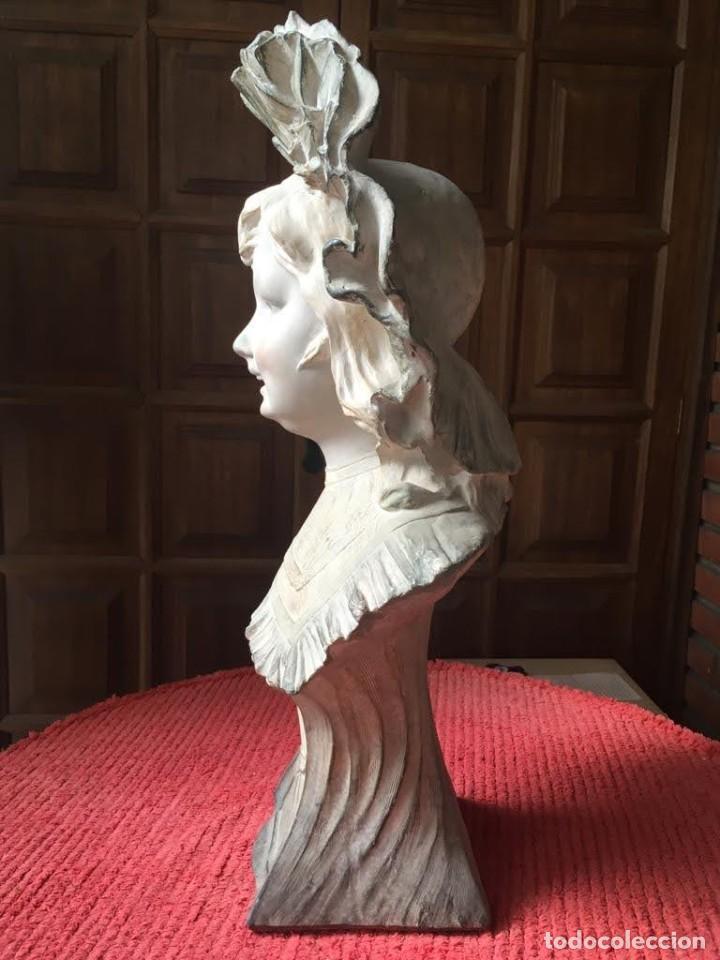 Arte: Busto modernista de niña con sombrero - Foto 4 - 208974776