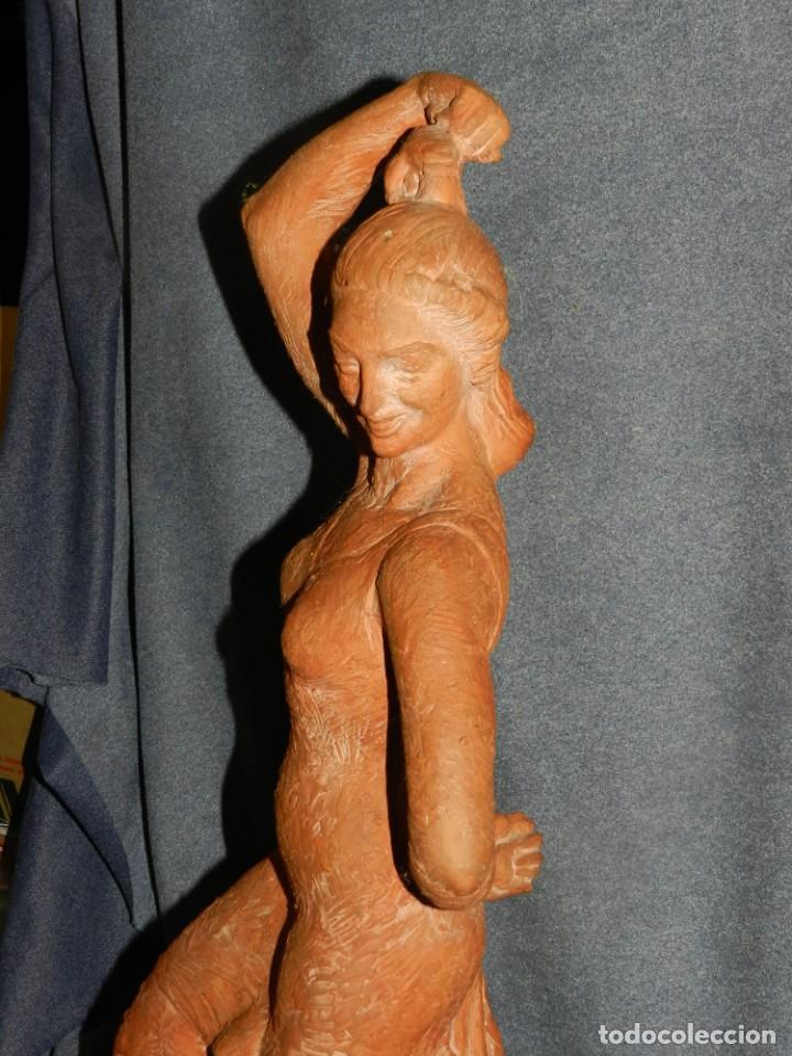 Arte: (M) ESCULTURA DE TERRACOTA BAILADORA DE FLAMENCO - FIRMADA J CARDELLÀ I CRUSSELL - Foto 3 - 209101630