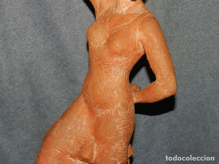 Arte: (M) ESCULTURA DE TERRACOTA BAILADORA DE FLAMENCO - FIRMADA J CARDELLÀ I CRUSSELL - Foto 5 - 209101630