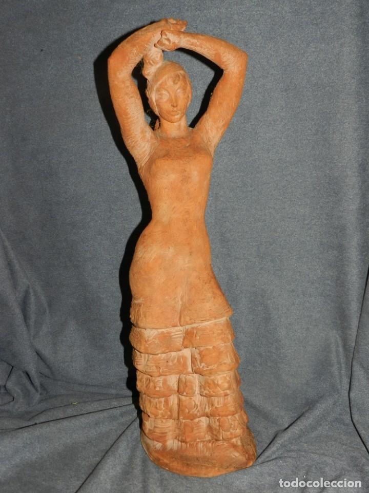 (M) ESCULTURA DE TERRACOTA BAILADORA DE FLAMENCO - FIRMADA J CARDELLÀ I CRUSSELL (Arte - Escultura - Terracota )