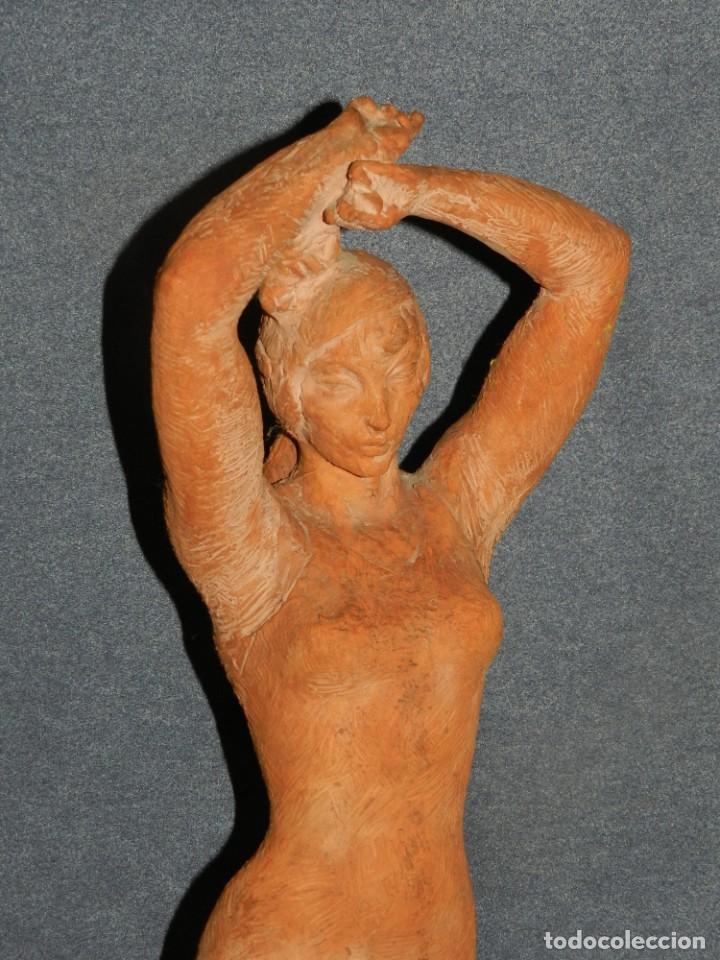 Arte: (M) ESCULTURA DE TERRACOTA BAILADORA DE FLAMENCO - FIRMADA J CARDELLÀ I CRUSSELL - Foto 2 - 209102495