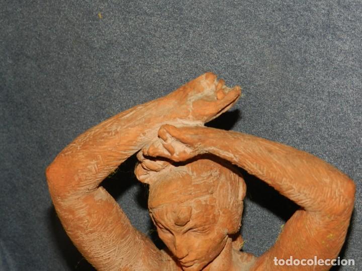 Arte: (M) ESCULTURA DE TERRACOTA BAILADORA DE FLAMENCO - FIRMADA J CARDELLÀ I CRUSSELL - Foto 4 - 209102495
