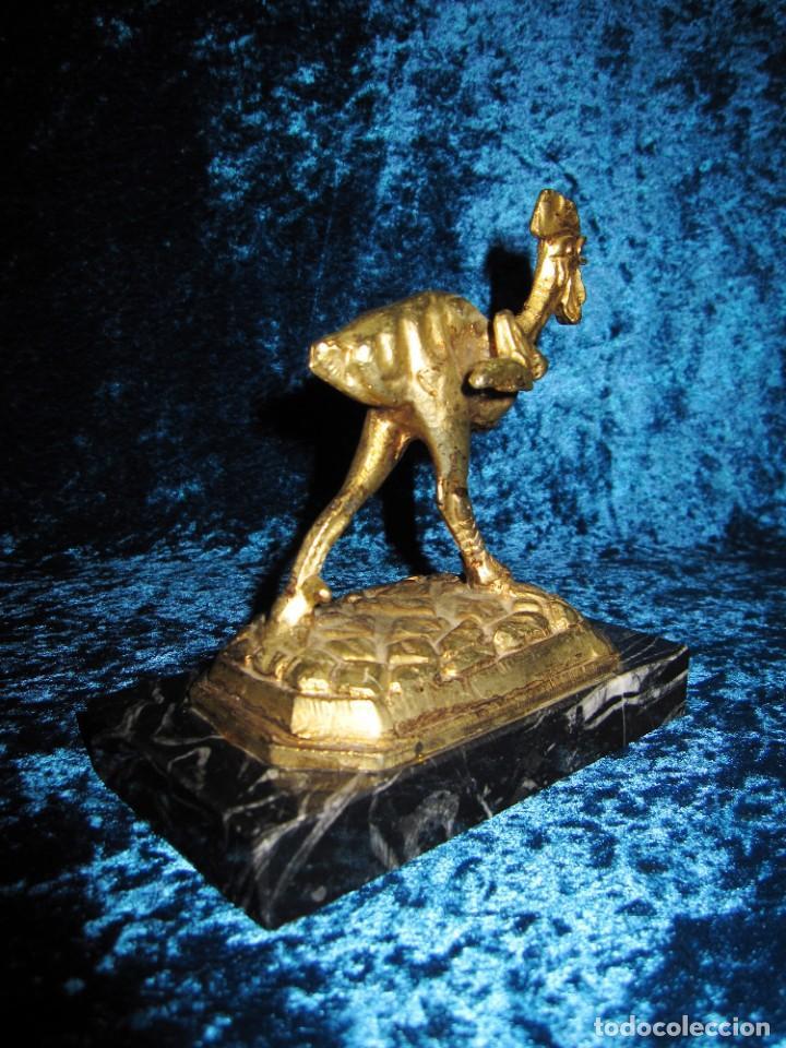 Arte: Gallo de Morón bronce mármol - Foto 7 - 209153032