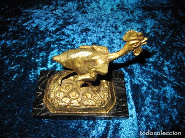 Arte: Gallo de Morón bronce mármol - Foto 13 - 209153032