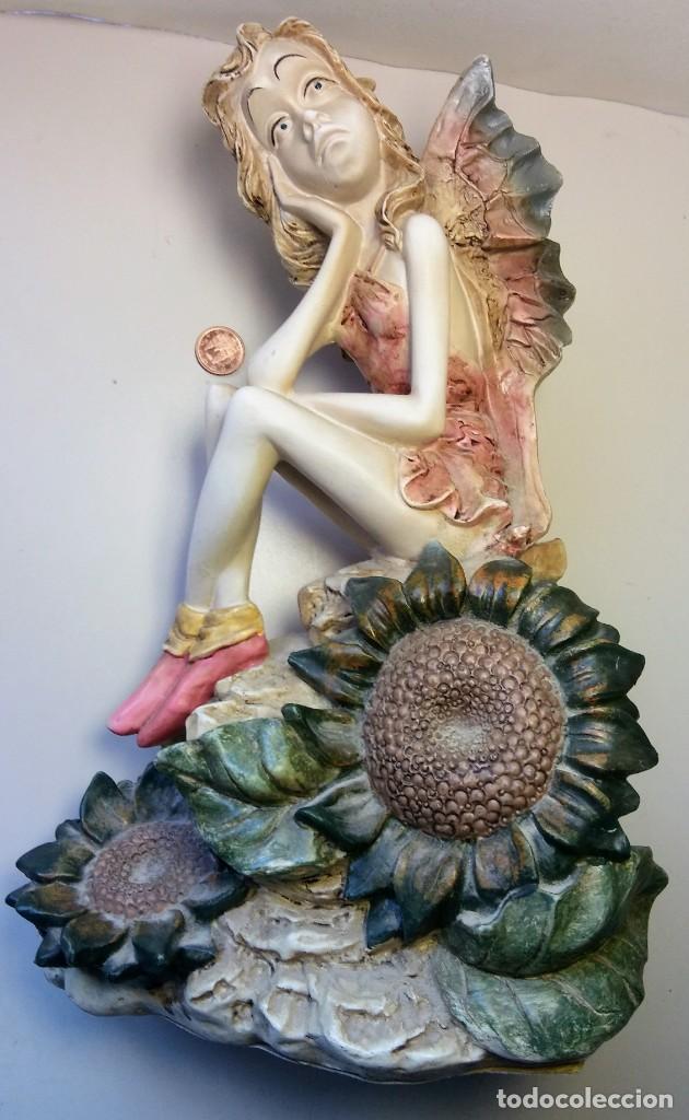 ESPECTACULAR HADA DE RESINA VINTAGE (Arte - Escultura - Resina)