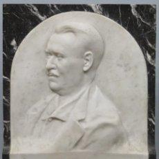 Arte: RETRATO EFIGIE DE CABALLERO EN BAJORRELIEVE. MARMOL. JUAN GURAYA (1893-1965). LA HABANA. 1925. Lote 209572235