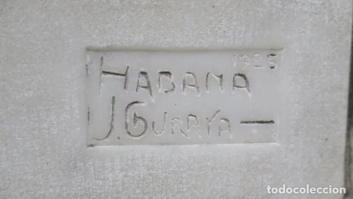 Arte: RETRATO EFIGIE DE CABALLERO EN BAJORRELIEVE. MARMOL. JUAN GURAYA (1893-1965). LA HABANA. 1925 - Foto 10 - 209572235