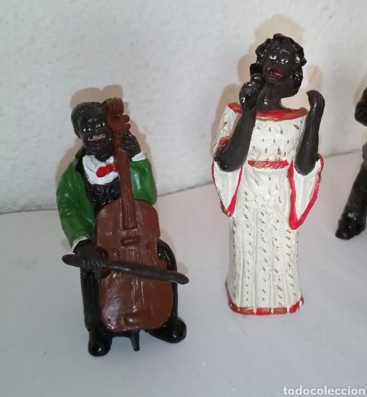 Arte: Antiguas figuras resina MÚSICOS BANDA JASS BLUES - Foto 2 - 209779258