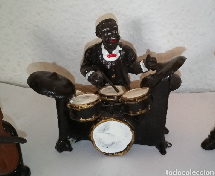Arte: Antiguas figuras resina MÚSICOS BANDA JASS BLUES - Foto 4 - 209779258