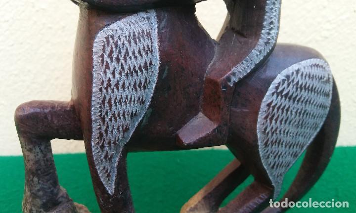 Arte: JINETE A CABALLO TALLADO EN PIEDRA, PERFECTO ESTADO - Foto 5 - 209785771