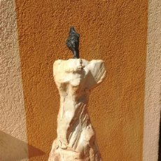 Arte: ATRIBUIDO A TERESA GIRONÉS: ESCULTURA CERÁMICA Y BRONCE, MUJER. 40 X 20 CM. Lote 209799818