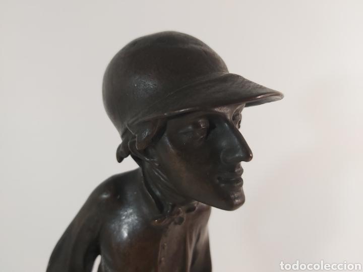 Arte: ANTIGUA ESCULTURA EN BRONCE. JOKEY ÉMILE GUILLEMIN 1841-1907 - Foto 3 - 210174237