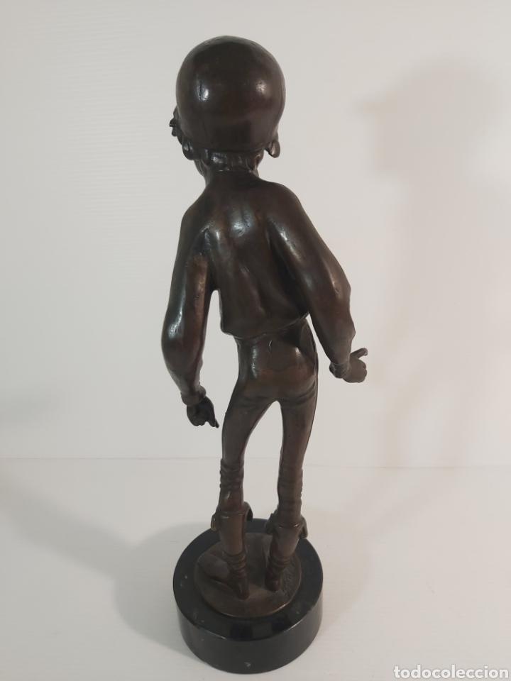 Arte: ANTIGUA ESCULTURA EN BRONCE. JOKEY ÉMILE GUILLEMIN 1841-1907 - Foto 7 - 210174237
