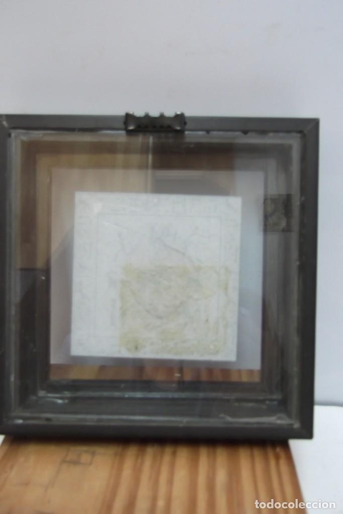 """Arte: ¡¡ MASCARA """" CAZADOR PREHISTORICO """" BRONCE, EN un marco VIRINA !! - Foto 4 - 210439137"""