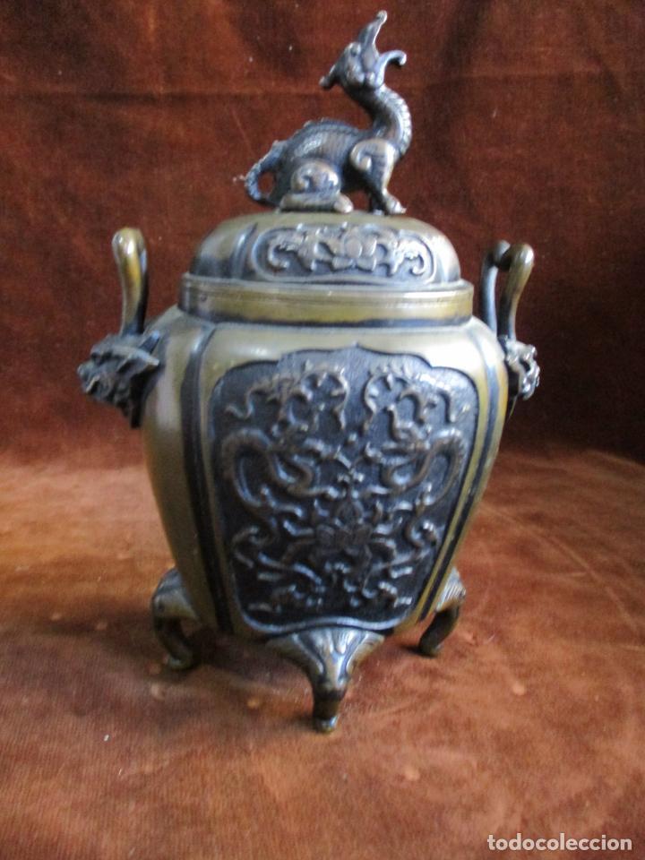 Arte: inciensario chino en bronce siglo xviii - Foto 6 - 210454466