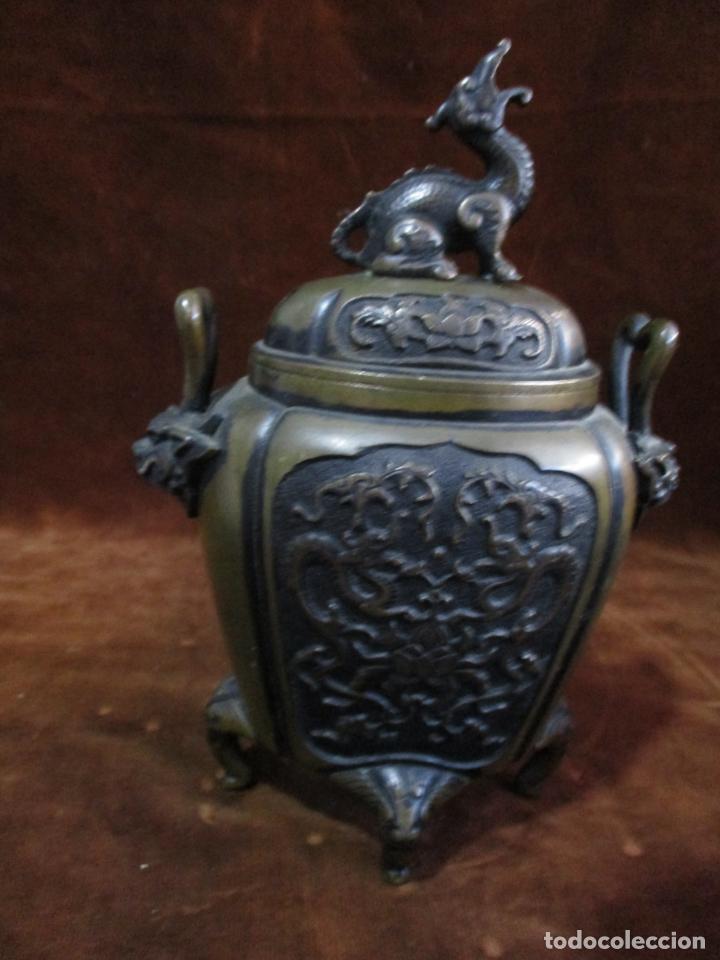 Arte: inciensario chino en bronce siglo xviii - Foto 8 - 210454466