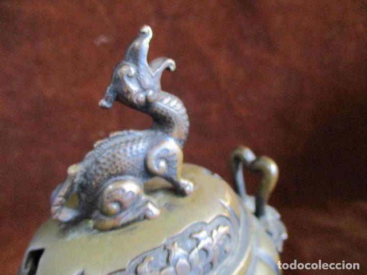 Arte: inciensario chino en bronce siglo xviii - Foto 9 - 210454466