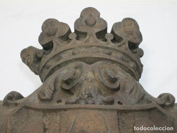 Arte: Escudo de la Ciudad de Gerona (Girona) - Hierro Fundido - Exterior de Edificio - Muy Raro - Foto 3 - 210717982