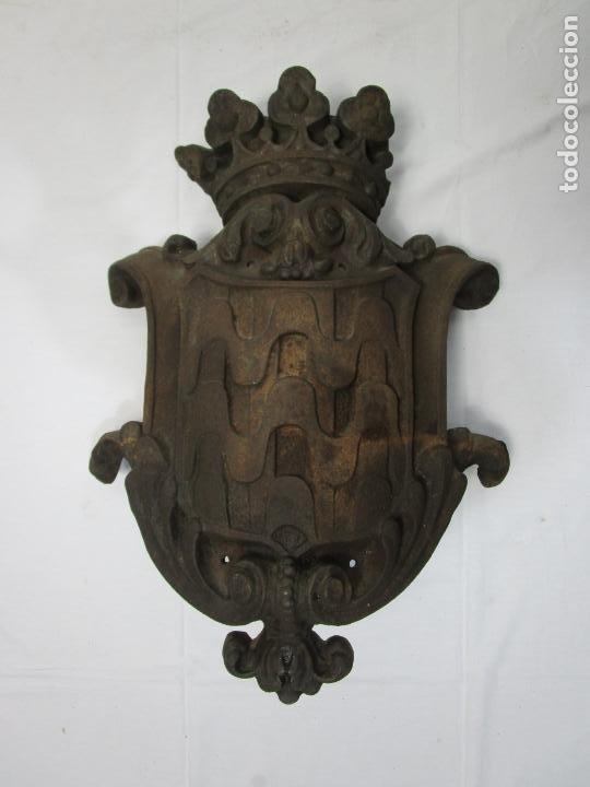 Arte: Escudo de la Ciudad de Gerona (Girona) - Hierro Fundido - Exterior de Edificio - Muy Raro - Foto 8 - 210717982