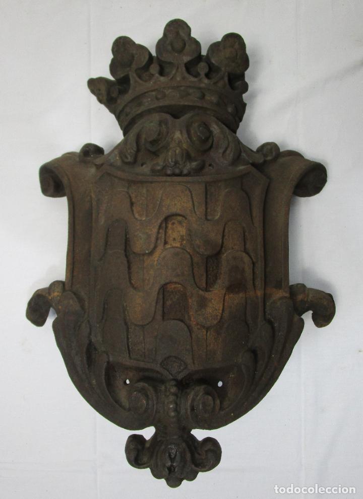 Arte: Escudo de la Ciudad de Gerona (Girona) - Hierro Fundido - Exterior de Edificio - Muy Raro - Foto 13 - 210717982