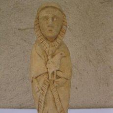 Arte: ANTIGUA FIGURA RELIGIOSA TALLADA EN PIEDRA.. Lote 210949991